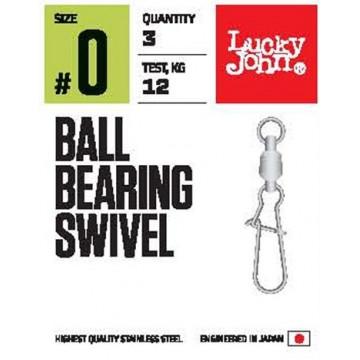 Вертлюжок-застежка с подшипником LUCKY JOHN Ball Bearing Swivel Pro Seriesl (3 шт.) LJP5102-000