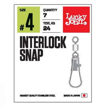 Вертлюжок-застежка LJ Pro Series Interlock Snap 006 10 шт