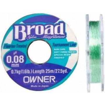 Леска Cultiva / Owner Broad 25м 0,10мм (светло-зеленая)